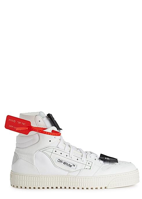 "aa36ed93c996b8 Off-White ""Off-Court"" 3.0 white leather hi-top sneakers - Harvey Nichols"
