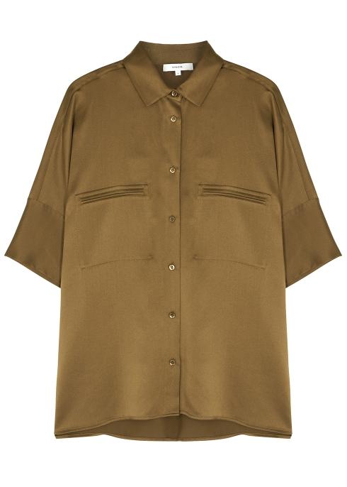 86fdeedd1afc9f Vince Caramel silk shirt - Harvey Nichols