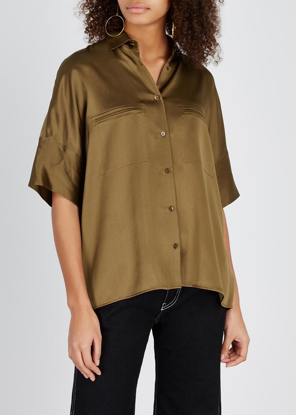Caramel silk shirt - Vince
