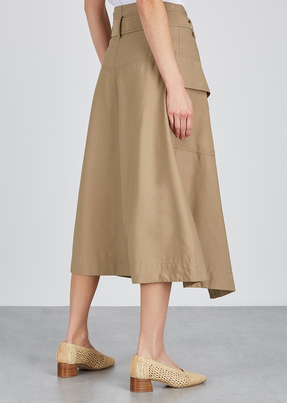 Light brown belted wrap skirt - Vince