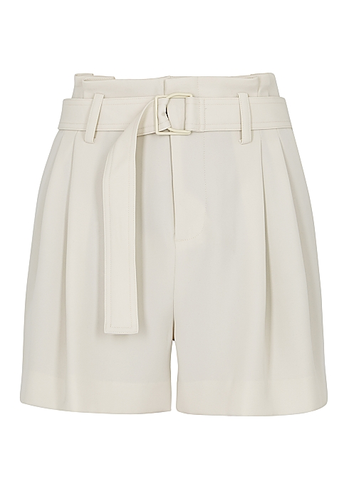 05a3799312968 Vince Off-white belted shorts - Harvey Nichols