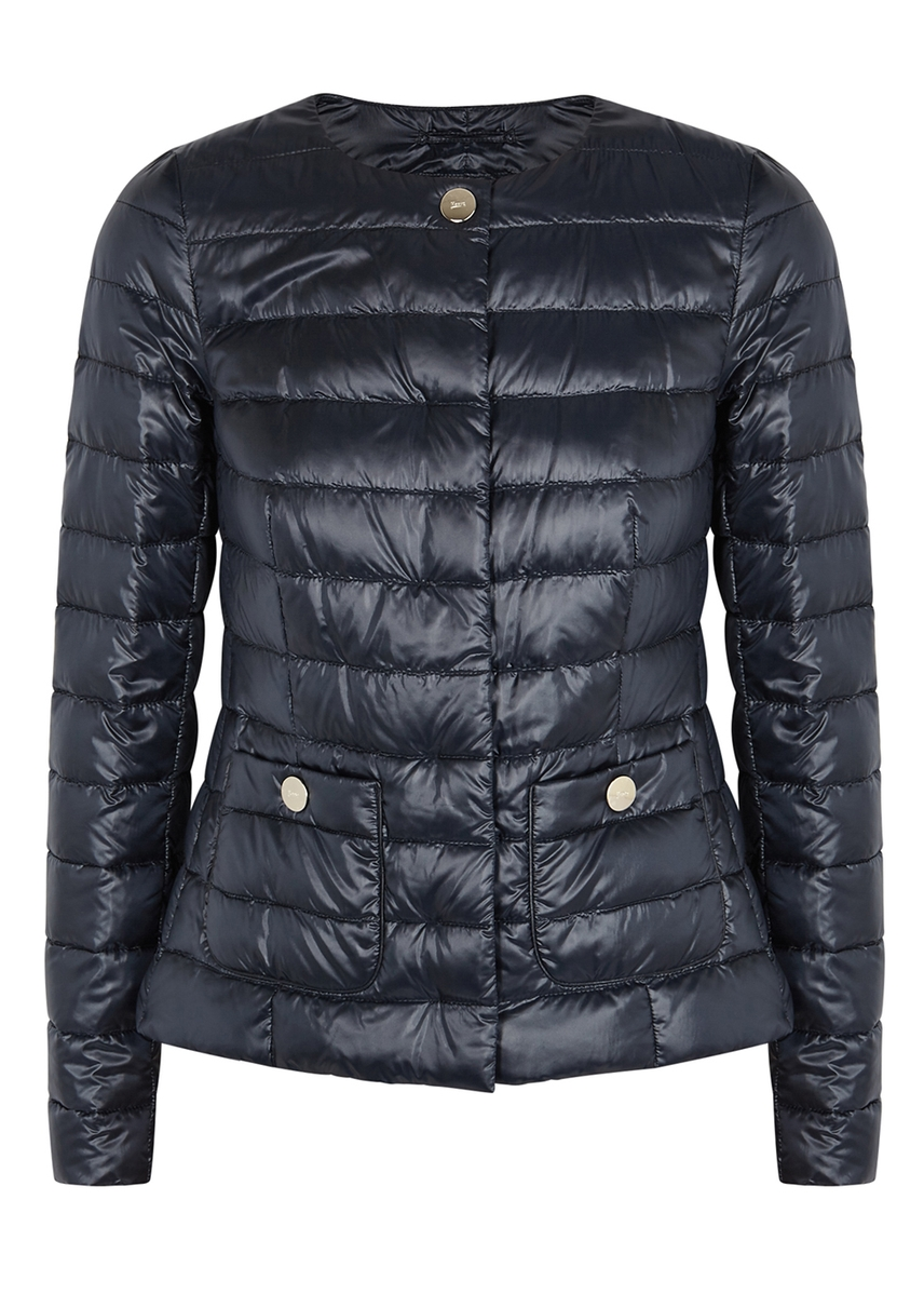 7d49132cecc79 Navy quilted shell jacket ...