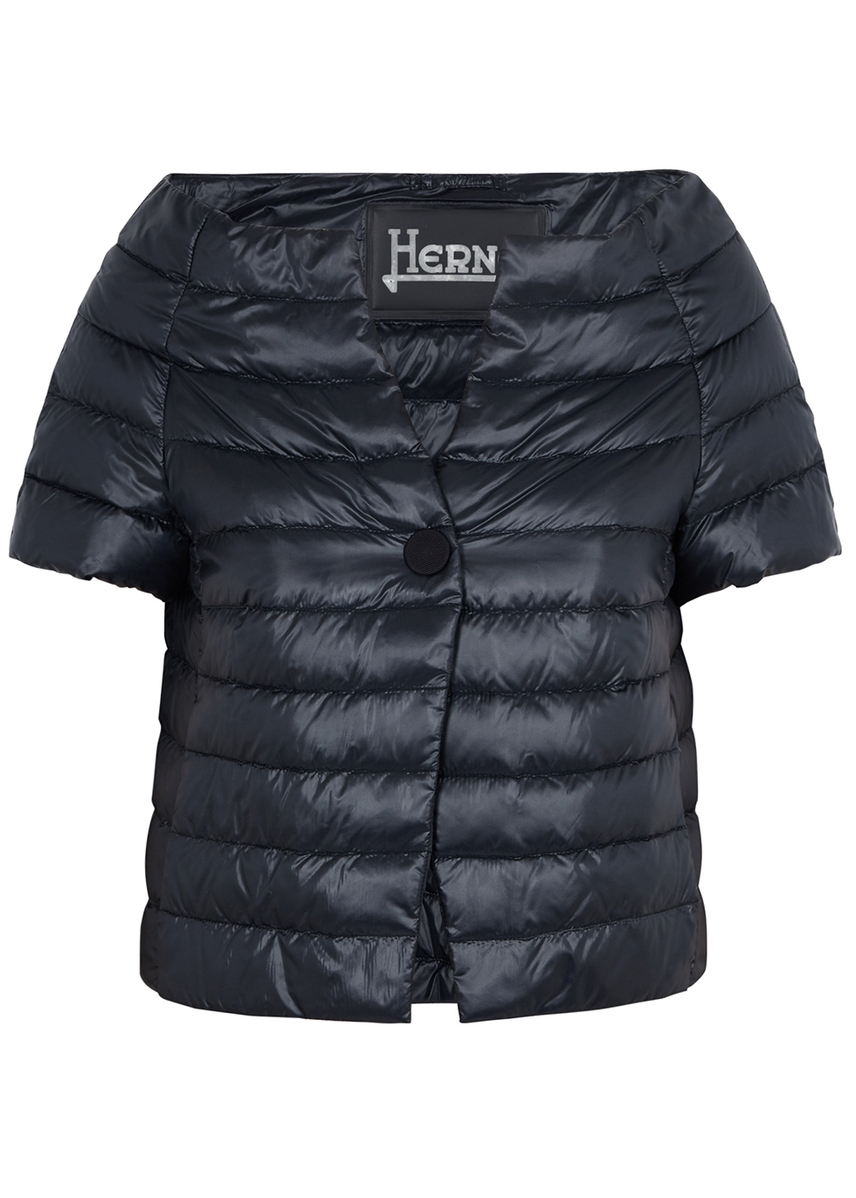 90eb2f06f790 Navy quilted shell jacket ...