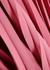 Pink twist-effect pleated midi dress - Vince