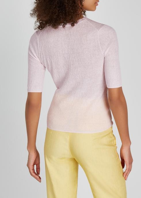 3149de84cb41d4 Vince Light pink textured stretch-knit top - Harvey Nichols
