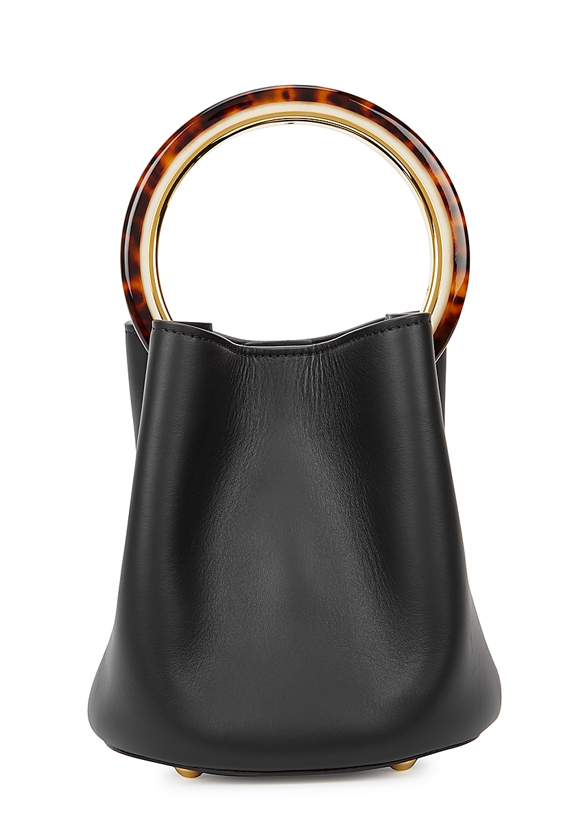 3cceeeb7 Pannier small black leather bucket bag ...