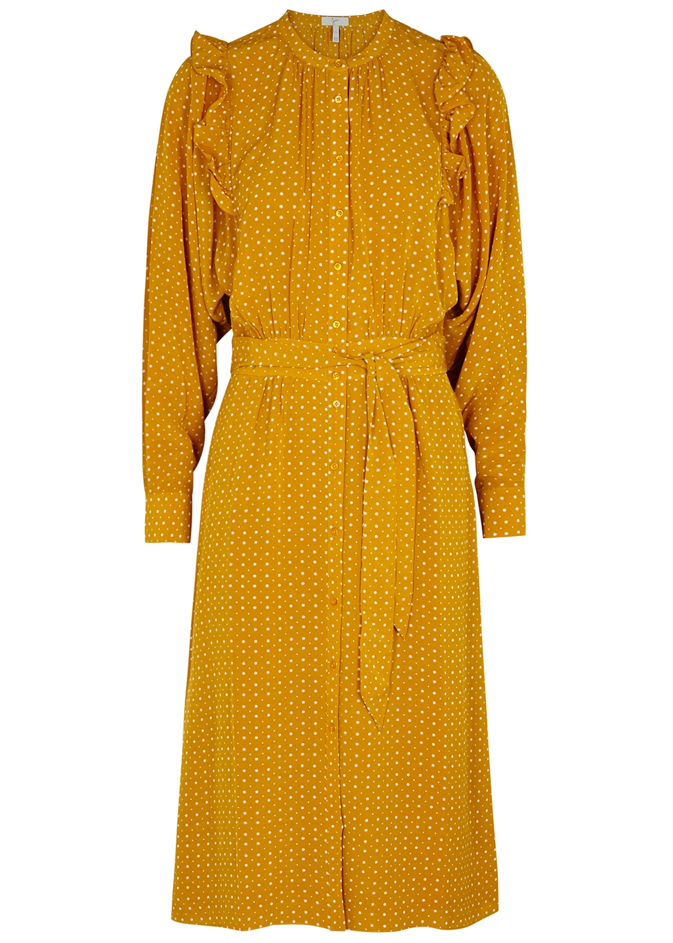 Redson Marigold Printed Dress in Yellow from Joie