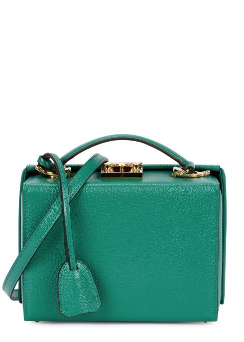 1f7a62b1384b Mark Cross Grace small green leather box bag - Harvey Nichols