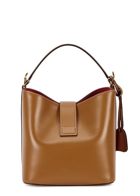 b77c0db10948 Mark Cross Murphy brown leather top handle bag - Harvey Nichols