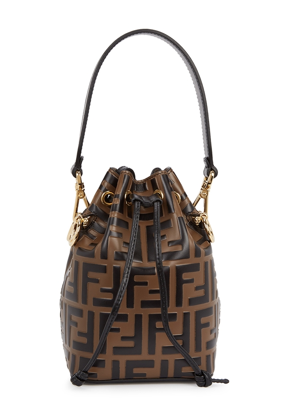 06cd1735c830 Mon Tresor brown leather bucket bag ...