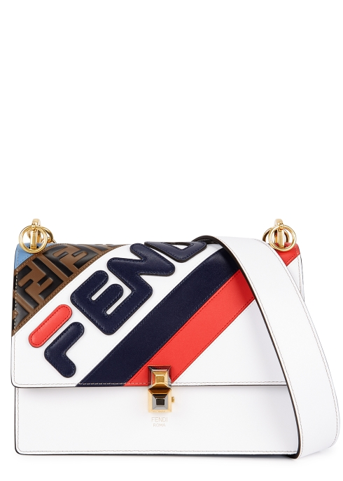 03585f55d4 Fendi FendiMania Kan I medium leather shoulder bag - Harvey Nichols