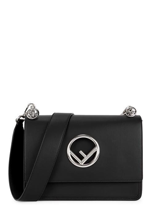 Fendi Kan I F medium leather shoulder bag - Harvey Nichols 3bfd220c0379e
