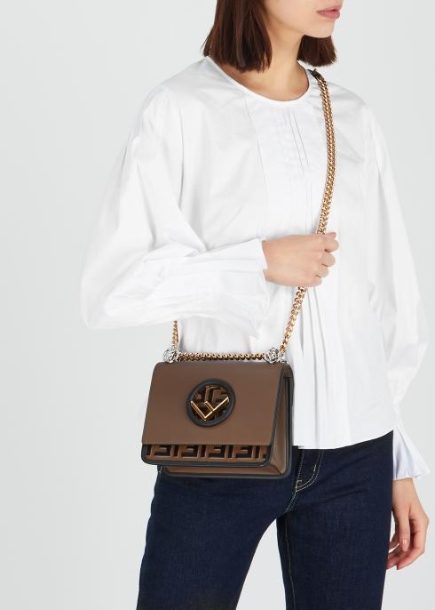Fendi Kan I F small leather shoulder bag - Harvey Nichols b9b58d4c0e2c3