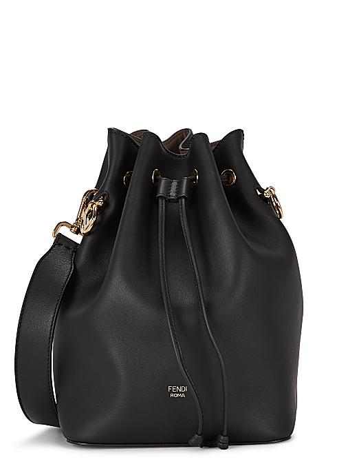 837838b4fe25f Fendi Mon Tresor black leather bucket bag - Harvey Nichols