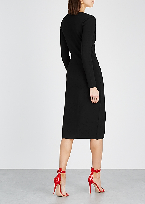 f7aa3b11be98 Altuzarra Gianni black stretch-knit midi dress - Harvey Nichols
