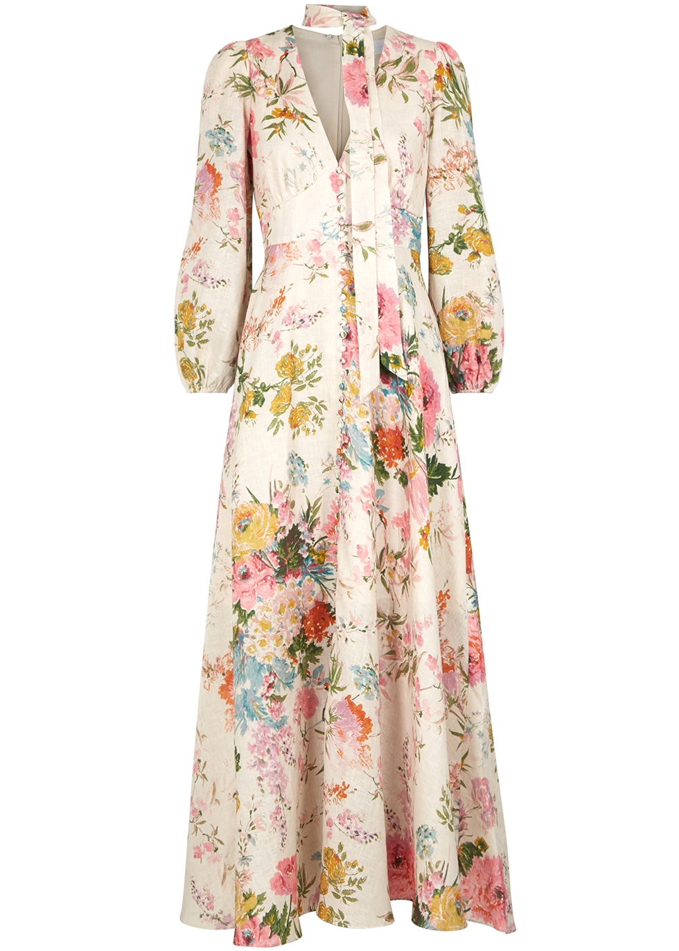 7786c08b0df Zimmermann Heathers printed linen maxi dress - Harvey Nichols