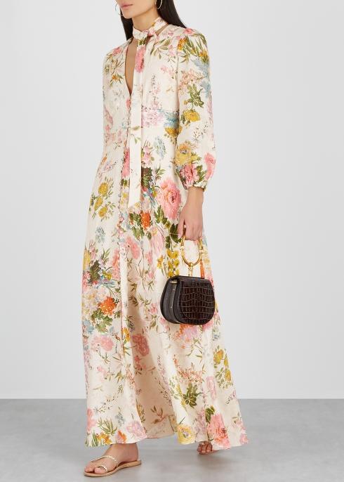 8509cec0df Zimmermann Heathers printed linen maxi dress - Harvey Nichols