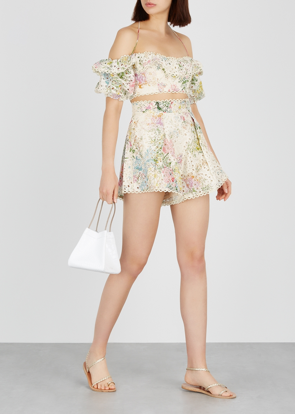 Heathers printed open-shoulder top - Zimmermann