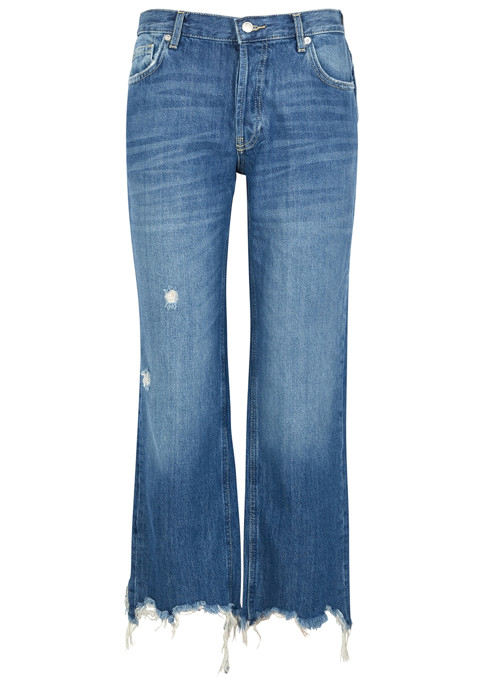 Maggie blue straight-leg jeans - Free People