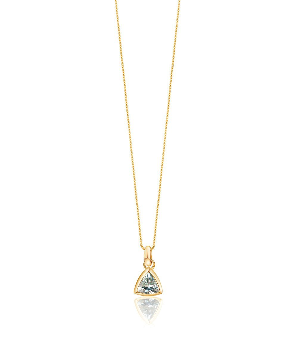 EDGE OF EMBER Aquamarine Charm Necklace