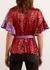 Alexis red sequin wrap top - Kitri