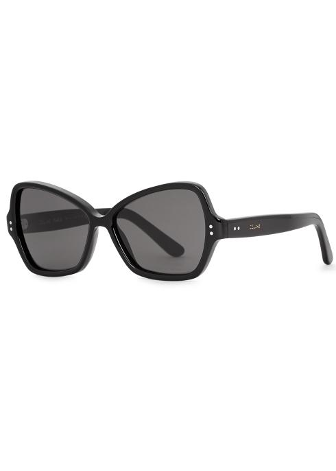 23e9a470b5c Celine Black square-frame sunglasses - Harvey Nichols