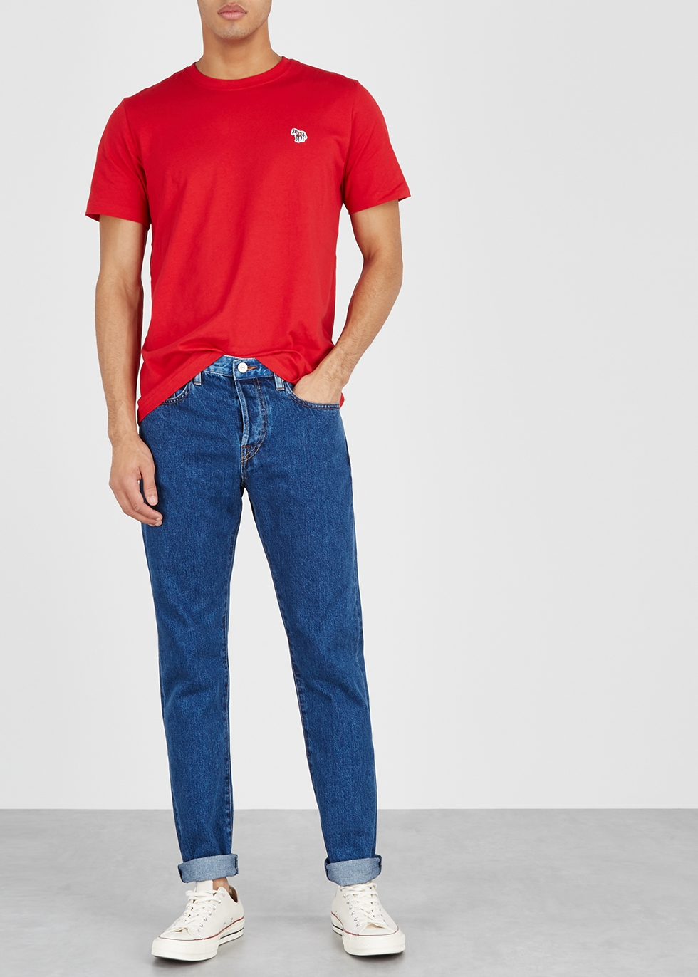 Red organic cotton T-shirt - PS by Paul Smith