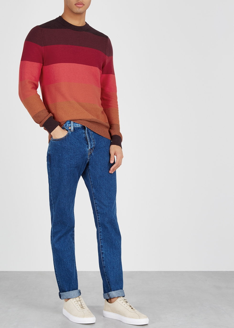 Striped cotton-blend jumper - PS by Paul Smith