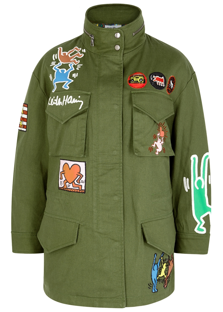 separation shoes f804e 5f2ba AO X Keith Haring Russo twill parka ...