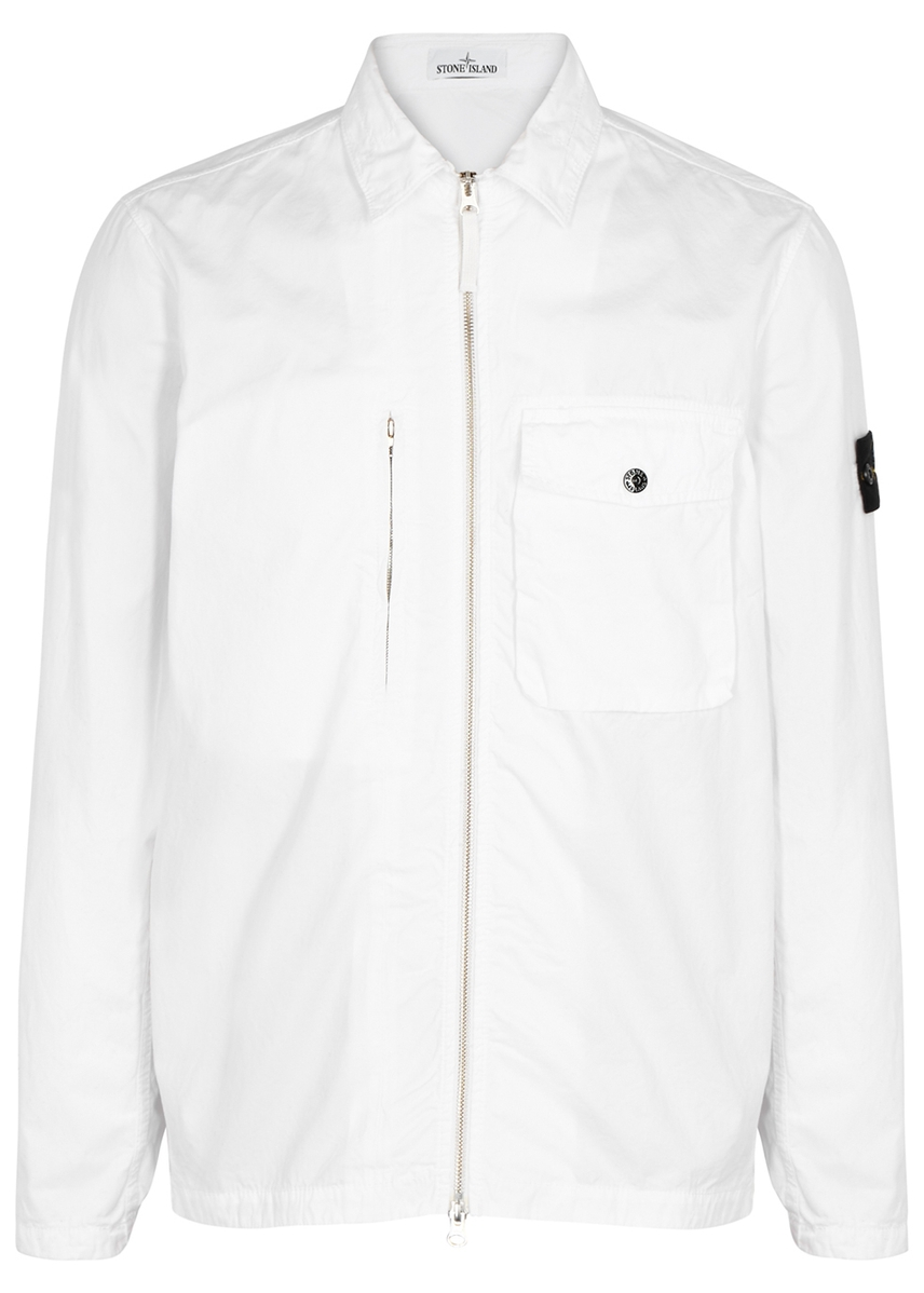 d2328ecd5f9cc White cotton jacket White cotton jacket. Stone Island