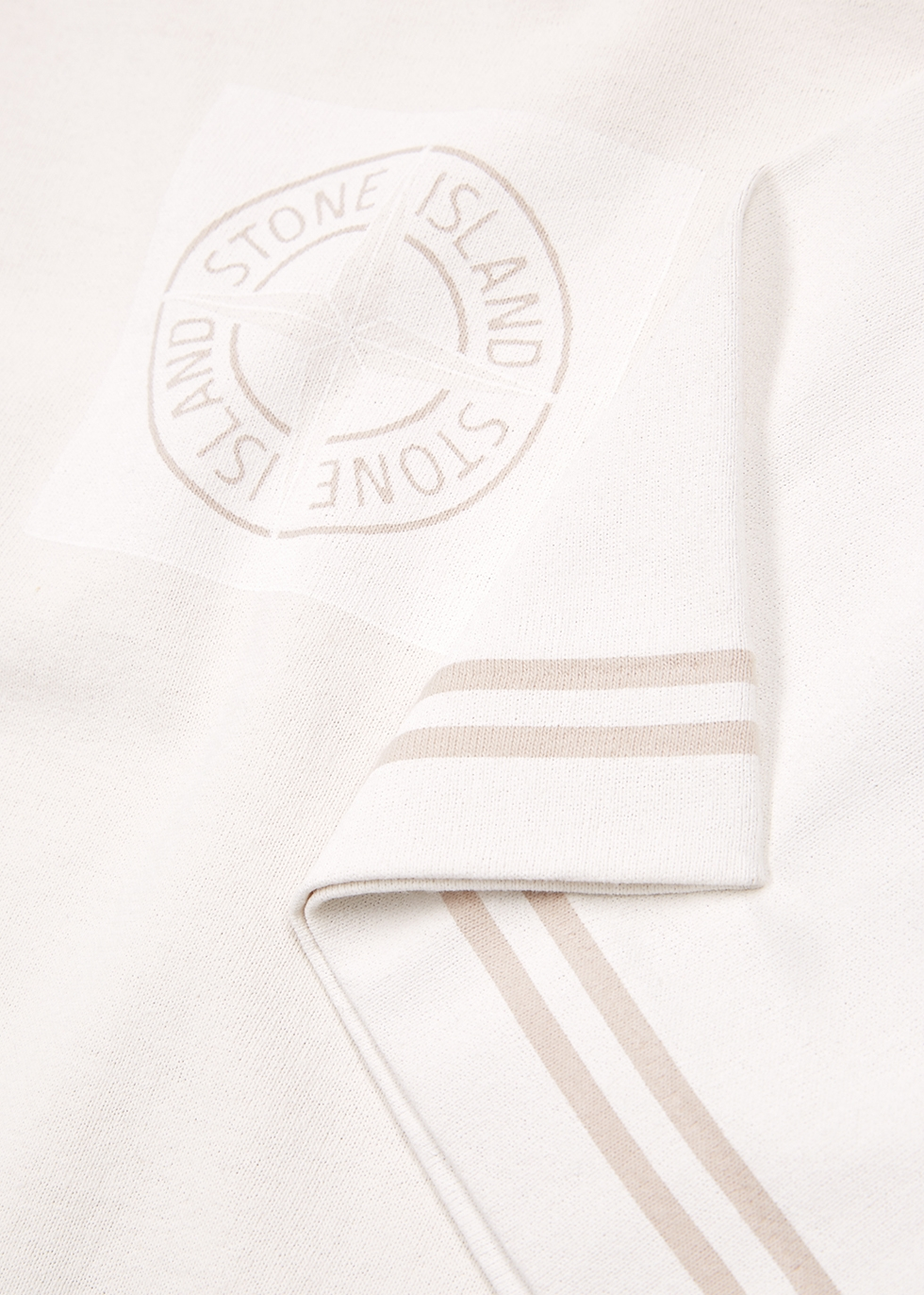 Cream garment-dyed cotton T-shirt - Stone Island