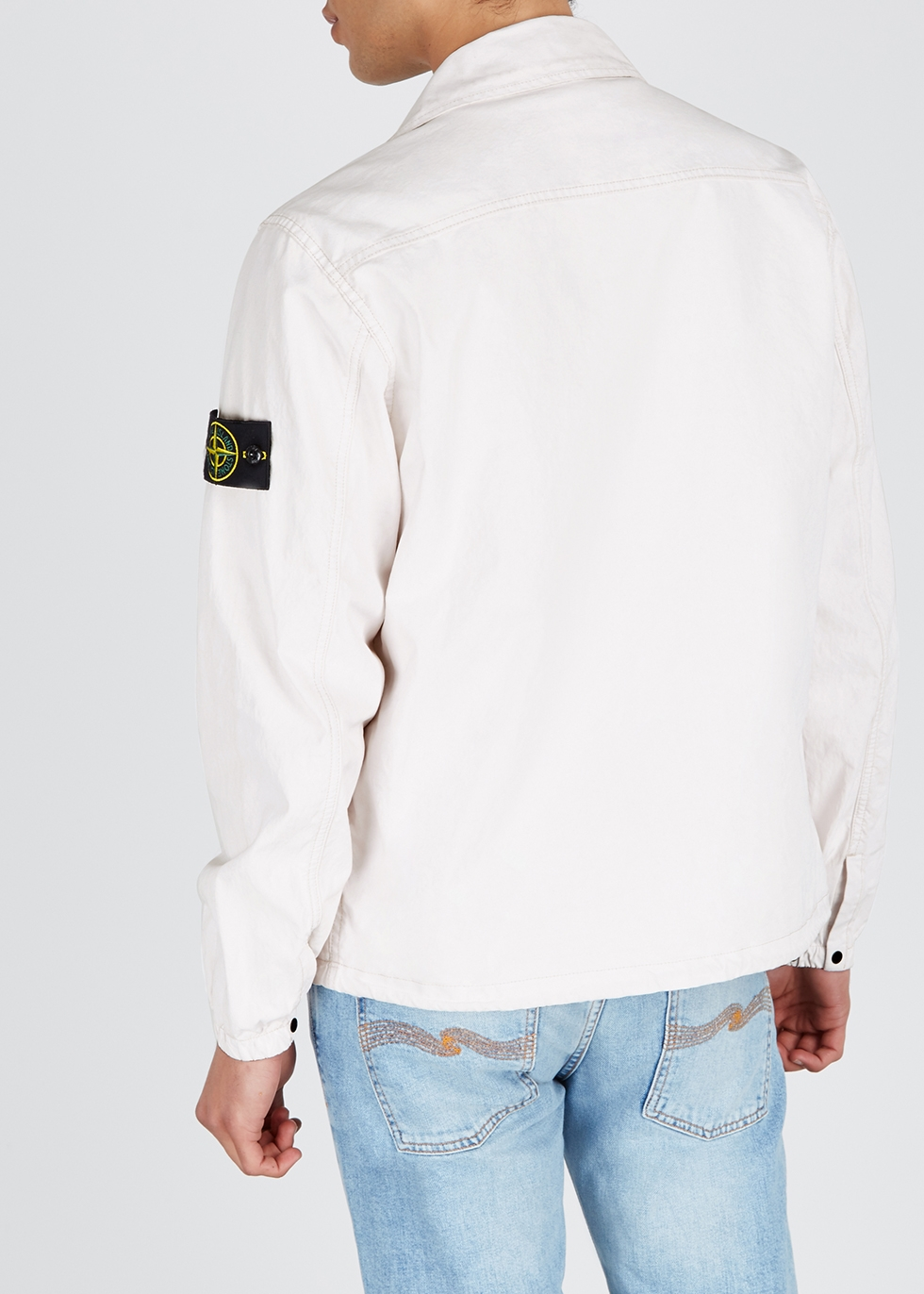 Off-white Tela Placcata cotton jacket - Stone Island