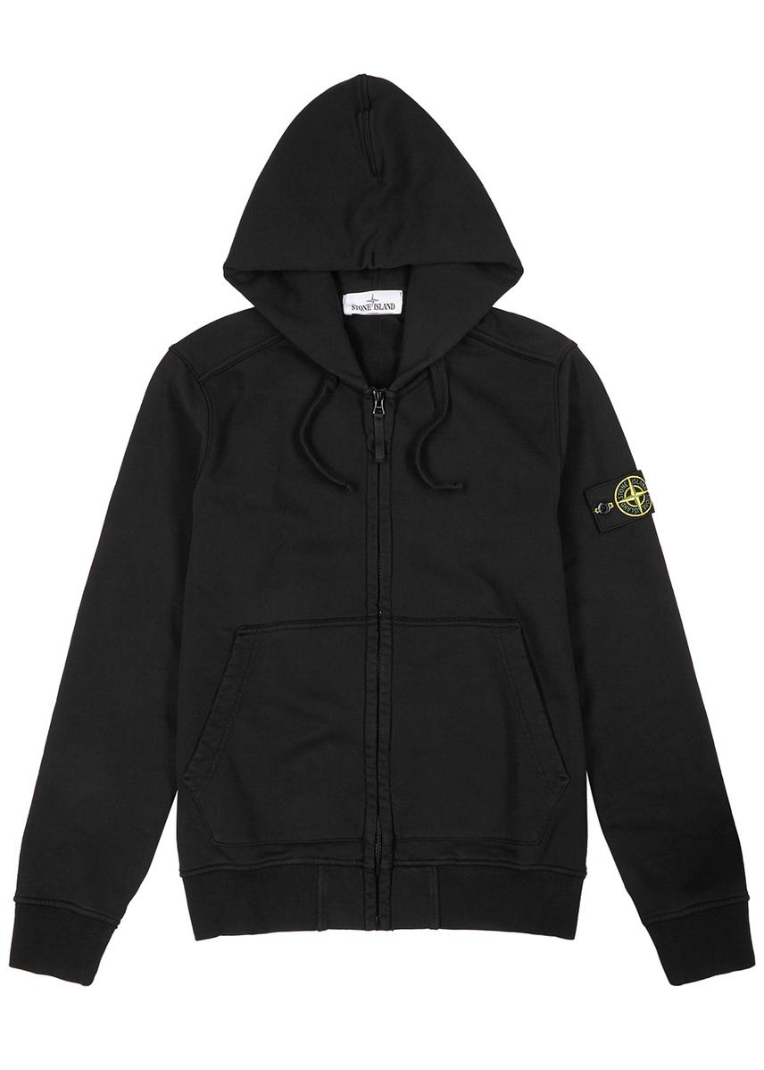 3f046a59c63 Black hooded cotton sweatshirt Black hooded cotton sweatshirt. New In. Stone  Island