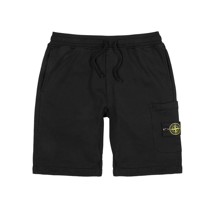 Stone Island Black Cotton Shorts