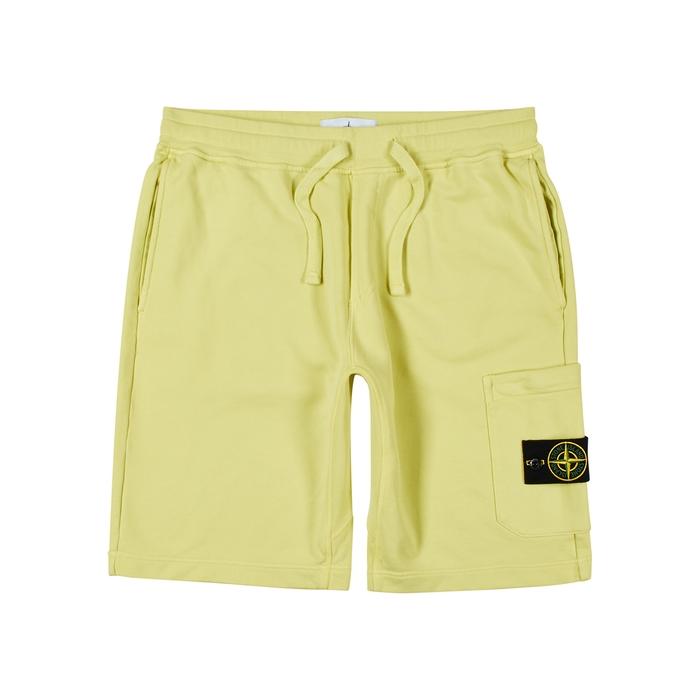 Stone Island Bright Yellow Cotton Shorts