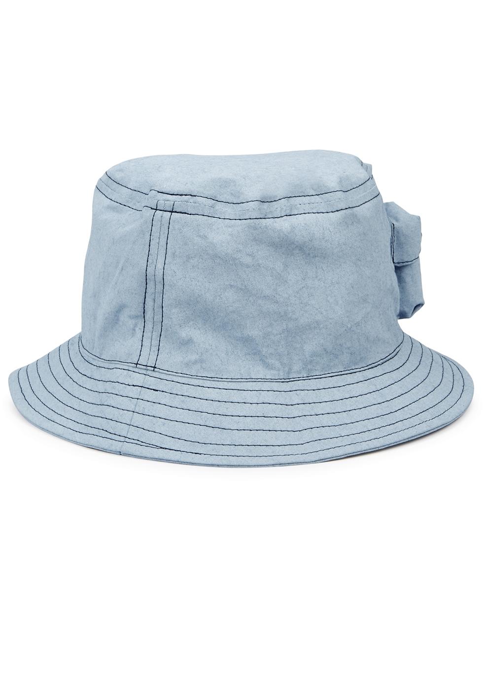 Blue coated cotton bucket hat - Stone Island