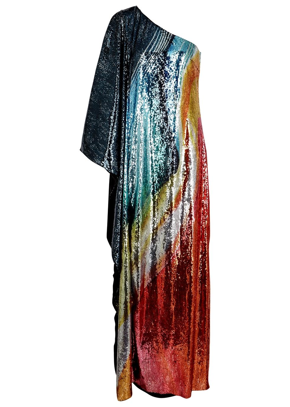 Isolde sequin one-shoulder gown - Mary Katrantzou
