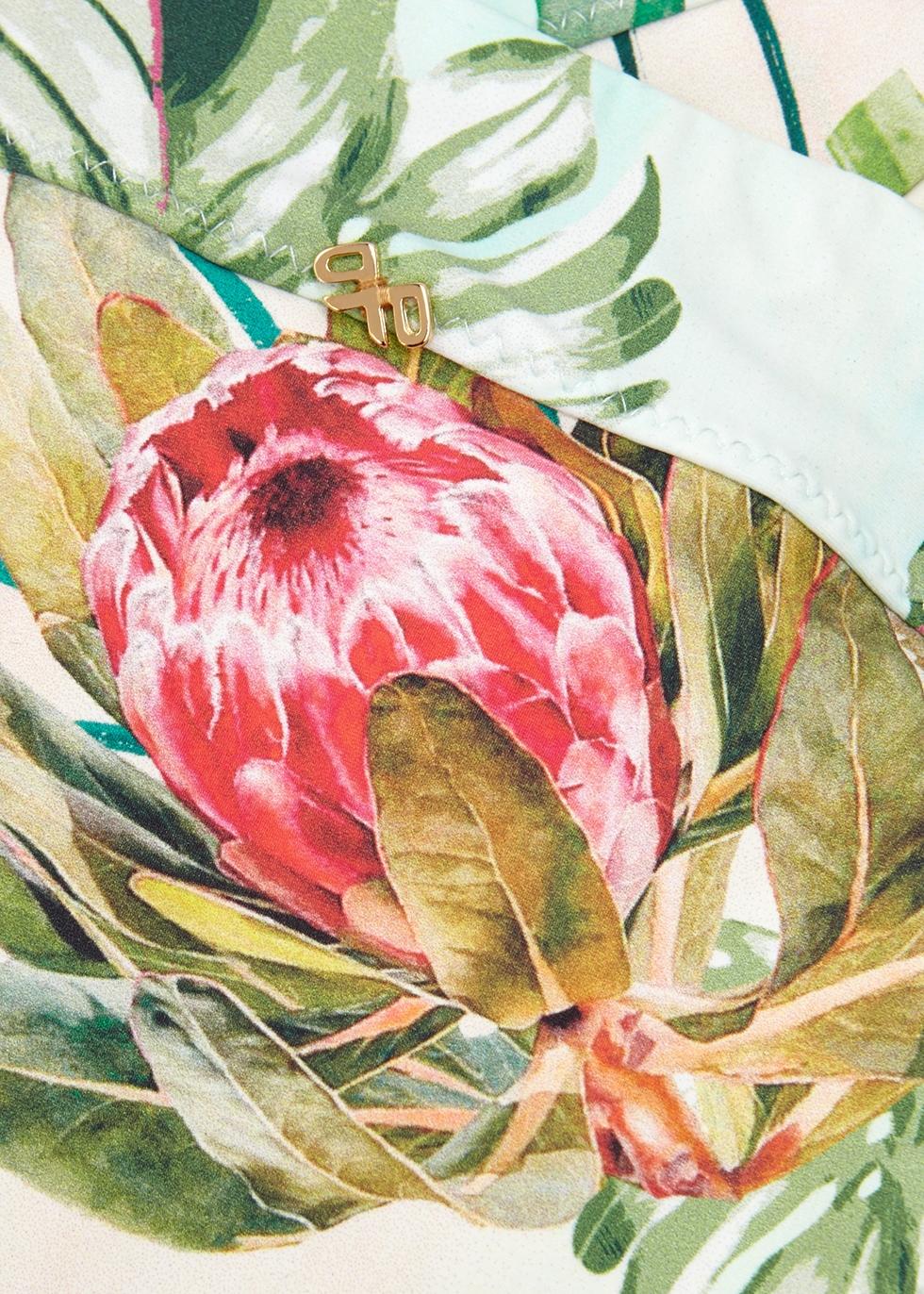 Tulum floral-print bikini briefs - PilyQ