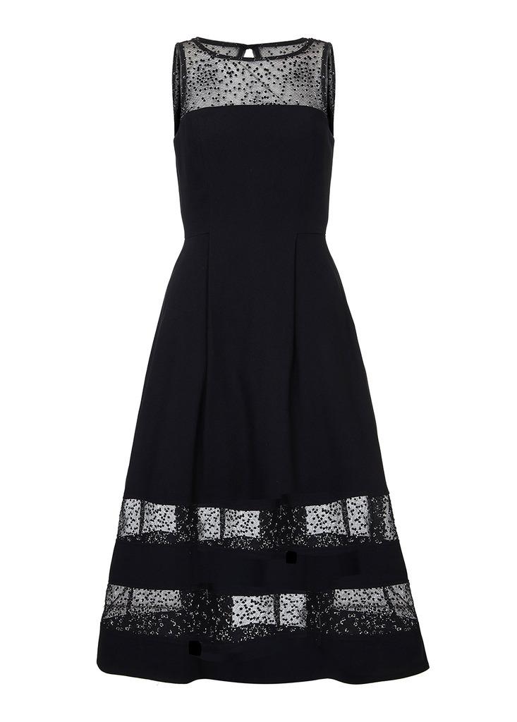 AIDAN Lurex Dot Shadow Stripe Dress