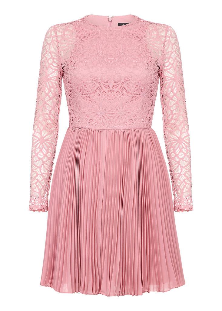 AIDAN Illusion Lace Cocktail Dress