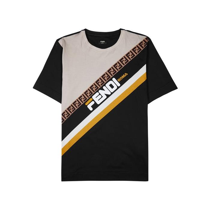 Fendi X Fila Logo Cotton T-shirt