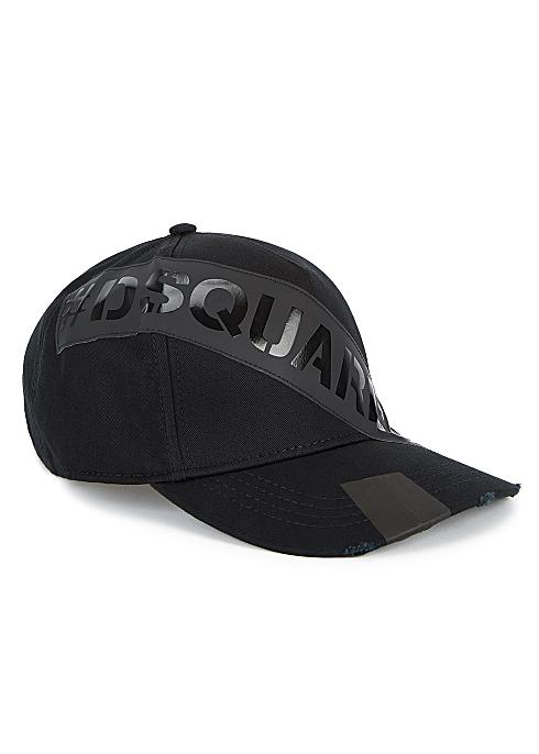 68b019c7c Dsquared2 Black logo-appliquéd twill cap - Harvey Nichols
