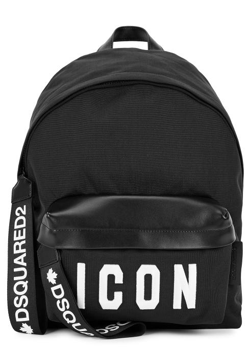 66b1003ec535 Dsquared2 Icon black canvas backpack - Harvey Nichols