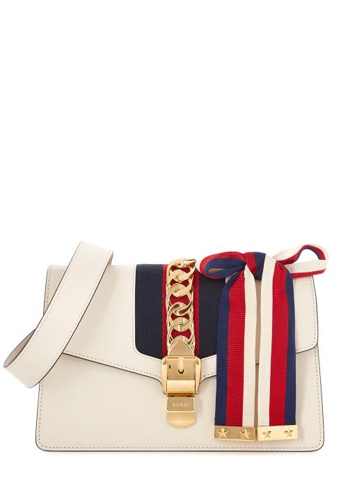 d1c474e30abb8 Gucci Sylvie cream leather cross-body bag - Harvey Nichols