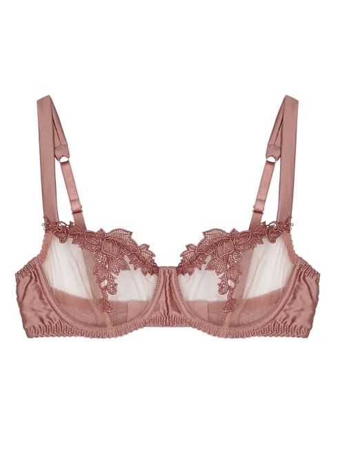 c8048b6ef3 Fleur Of England Desert Rose embroidered balcony bra - Harvey Nichols