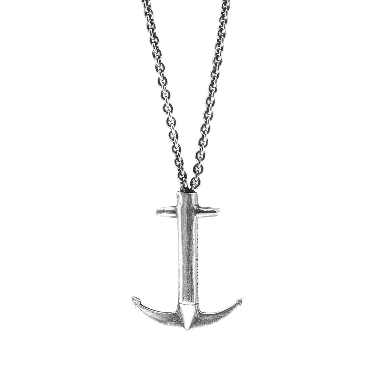 Anchor and Crew Mens Lerwick Pulley Silver Necklace Silver