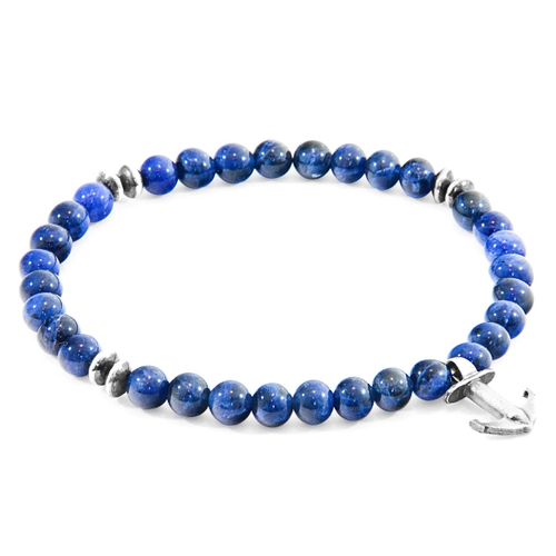 Anchor & Crew BLUE SODALITE STARBOARD SILVER AND STONE BRACELET