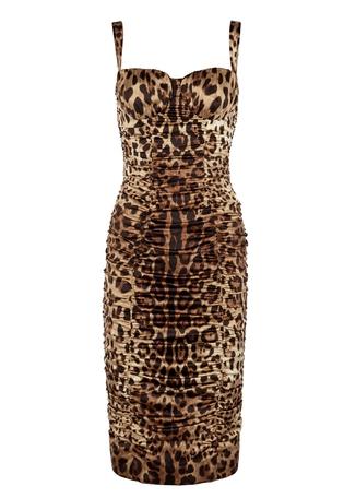714d4db8e59 Leopard-print stretch-silk midi dress Leopard-print stretch-silk midi dress.  New In. Dolce   Gabbana