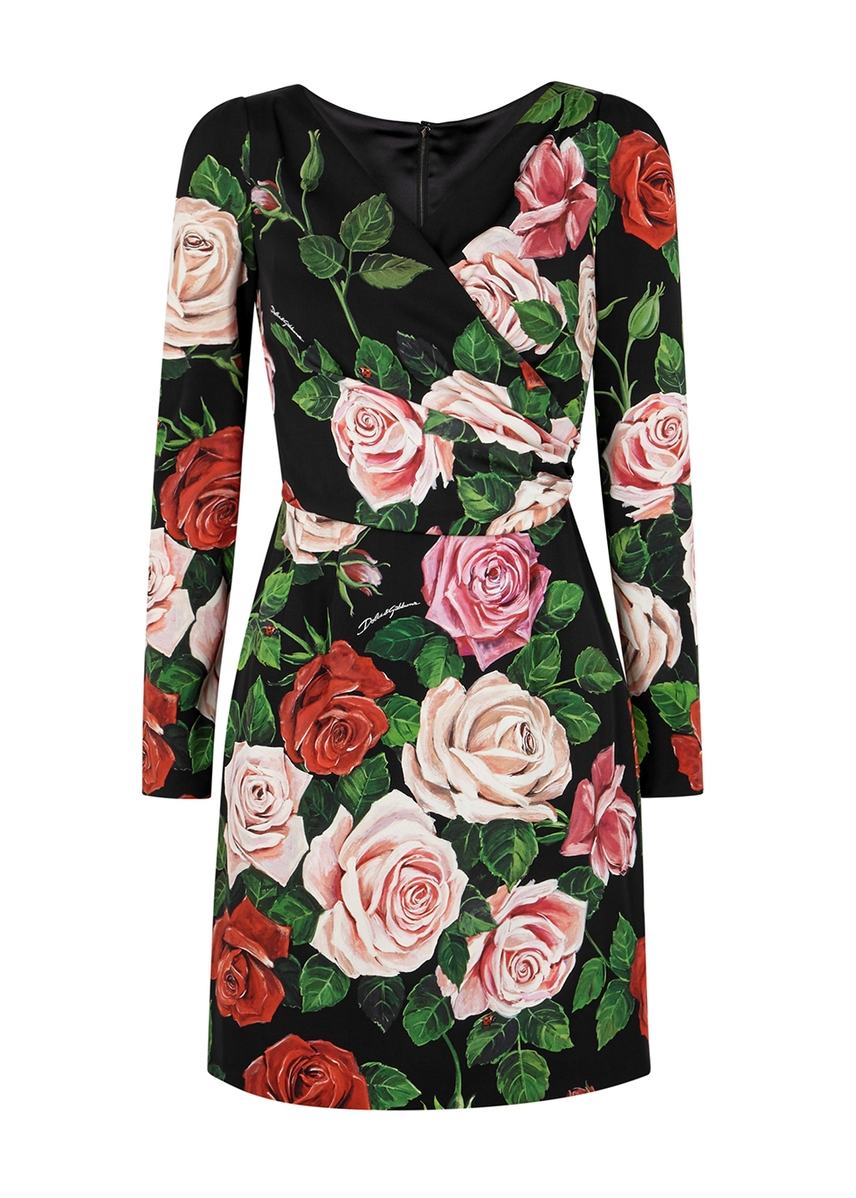 6862aaf9c27 Floral-print stretch-silk mini dress Floral-print stretch-silk mini dress.  New In. Dolce   Gabbana