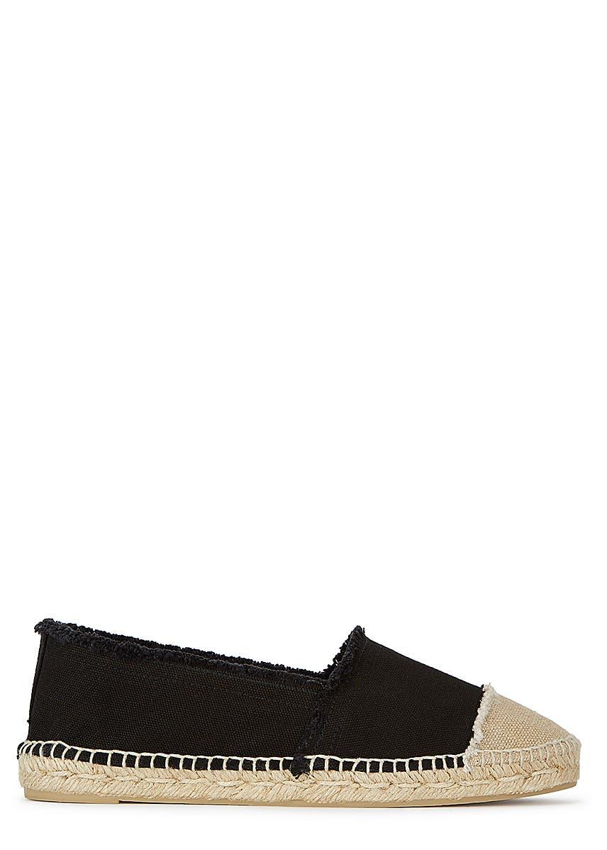 0047e302d Kampala black canvas espadrilles ...